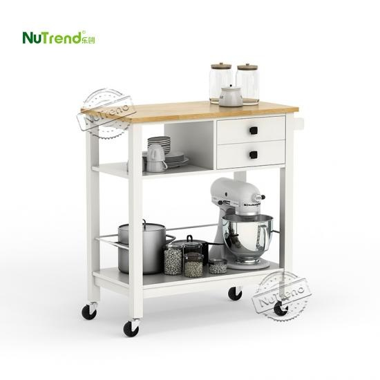 Wood Micorwave Kitchen Island Cart Furniture Factory China