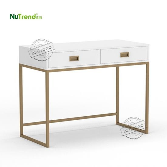 White Gold Desk table manufacturer in China