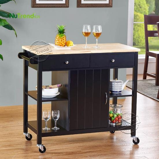 Kitchen Island Cart with cabinet Furniture Supplier China