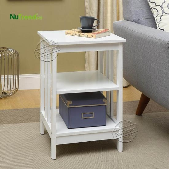 Farmhouse Accent Side Table Furniture factory Supplier