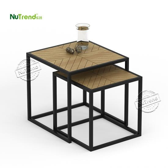 Black Frame Living Room Coffee Table End Table Set Of 2  manufacturer in China