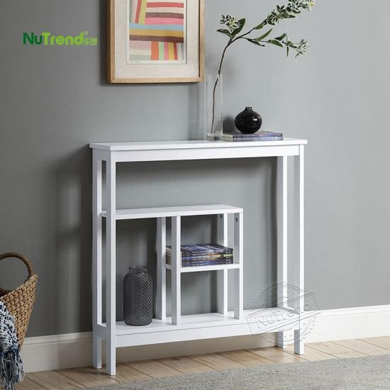 modern extra narrow wood sofa foyer console table  factory Supplier