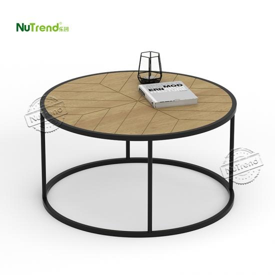 chevron wood modern coffee center table for living room Factory China